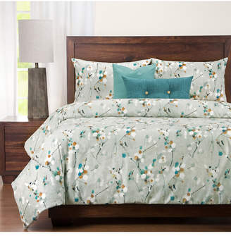 Siscovers Hamton Contemporary Floral 6 Piece Full Size Luxury Duvet Set Bedding