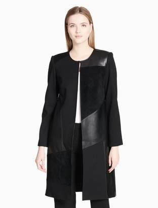 Calvin Klein geometric panel long jacket