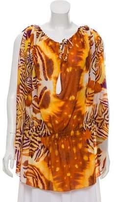 Just Cavalli Printed Silk-Blend Tunic