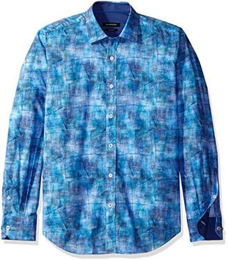 Bugatchi Men's Denim Button Down Shirt