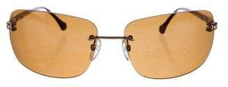 Ermenegildo Zegna Rimless Tinted Sunglasses w/ Tags $125 thestylecure.com