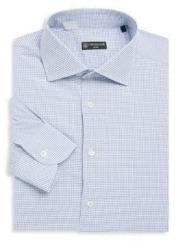 Corneliani Checkered Cotton Dress Shirt