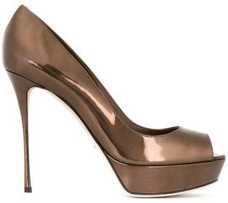 Sergio Rossi 'Alton' peep toe pumps $730 thestylecure.com