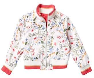 Urban Republic Reversible Sateen Bomber Jacket (Little Girls)