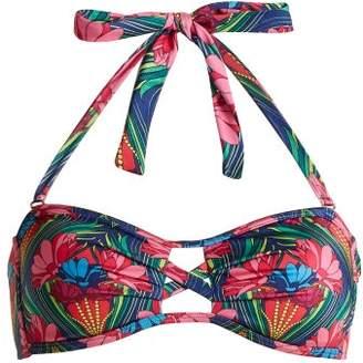 Paolita - Saguaro Bandeau Bikini Top - Womens - Pink Multi