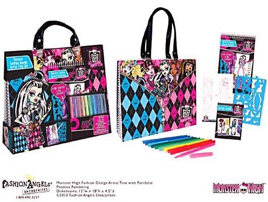 Fashion Angels Monster High Artist Tote Compact Portfolio Set
