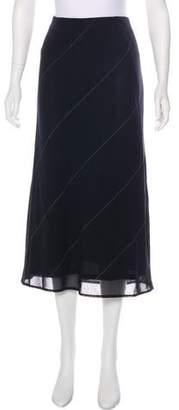 Akris Punto Striped Midi Skirt