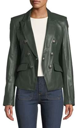 Veronica Beard Cooke Leather Dickey Jacket