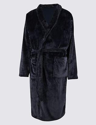 M&S Collection Supersoft Super Dad Fleece Dressing Gown