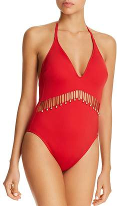 Kenneth Cole Plunge One Piece Swimsuit