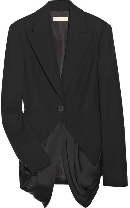 Michael Kors Draped wool blazer