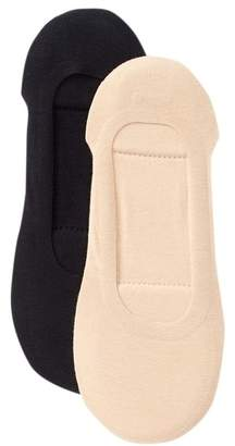 Shimera Memory Foam Super No Show Socks - Pack of 2