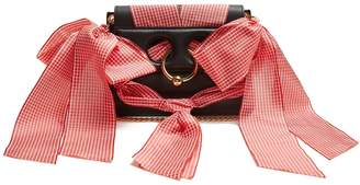 J.W.Anderson Pierce mini ribbon-trimmed leather cross-body bag