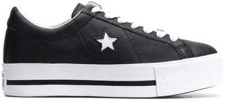Converse One Star lift platform sneakers