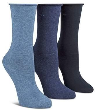 Calvin Klein Roll Top Trouser Socks, Set of 3