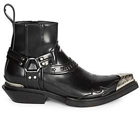 Balenciaga Men's Santiag Leather Western Boots