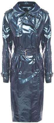 Marc Jacobs Belted Metallic Vinyl Trench Coat