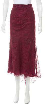Jean Paul Gaultier Lace Midi Skirt