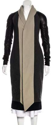 Rick Owens Wool & Leather Coat w/ Tags