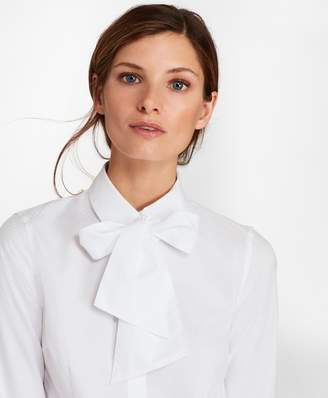 Brooks Brothers Petite Non-Iron Tailored-Fit Dobby Cotton Bow-Neck Shirt