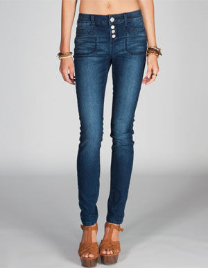 ALMOST FAMOUS Womens Highwaisted Skinny Jeans