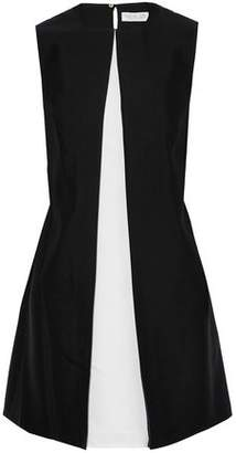 Rachel Zoe Faille-Paneled Two-Tone Wool And Silk-Blend Dress