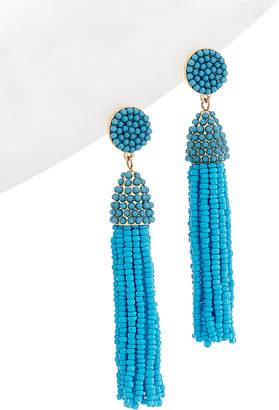 Stella & Ruby Fiesta Collection 14K Plated Beaded Tassel Drop Earrings