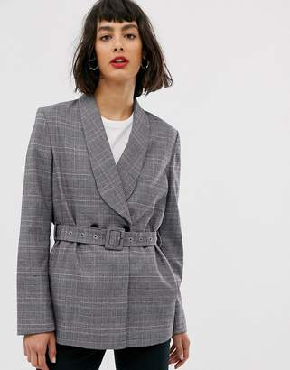 Selected belted blazer