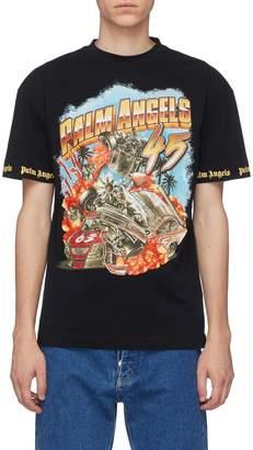 Palm Angels 'Car Crash' graphic print T-shirt