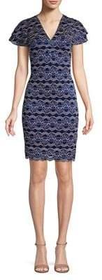 Kensie Tiered-Sleeve Sheath Dress