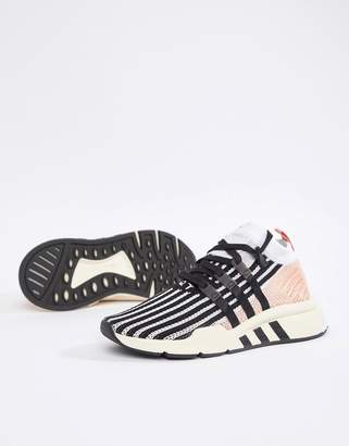 adidas Eqt Support Mid Adv Sneakers In Black And Pink