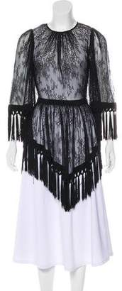 Alice McCall Lace Fringed Mini Dress