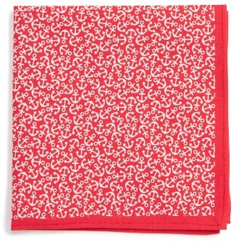 Boy's Nordstrom Anchor Print Silk Pocket Square $15 thestylecure.com