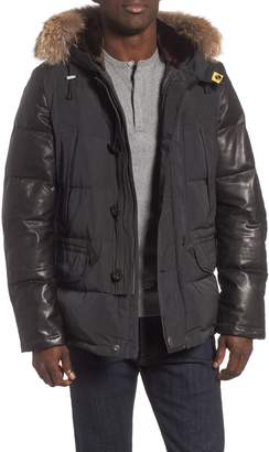 Parajumpers Dhole Hooded Down Jacket with Genuine Coyote Fur Trim