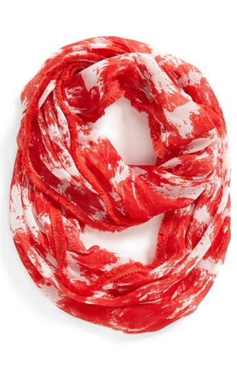 Nine West 'Paint Strokes' Infinity Scarf