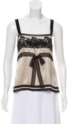 Alberta Ferretti Sleeveless Silk Top