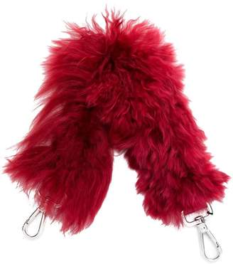 Fendi small furry shoulder strap
