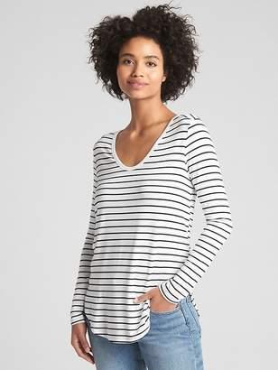 Gap Long Sleeve U-Neck T-Shirt in Rayon Jersey