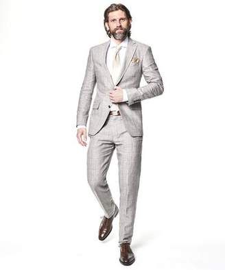 Todd Snyder Sutton Windowpane Linen Suit Jacket In Grey