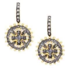 Freida Rothman Maltese Coin Dangle Earrings