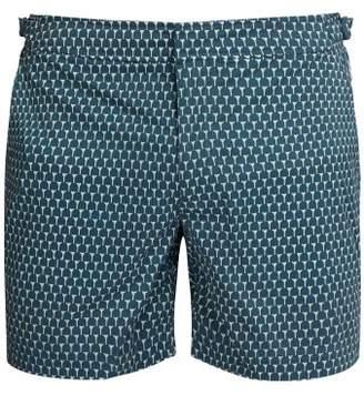 Orlebar Brown Bulldog Sport Mid Length Swim Shorts - Mens - Dark Blue