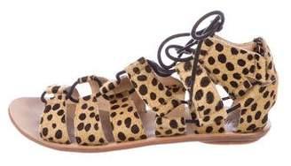Loeffler Randall Ponyhair Cheetah Print Sandals