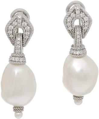 Judith Ripka Sterling Cultured Pearl Drop Earrings