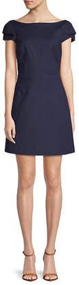 Halston Tiered-Sleeve Sheath Dress