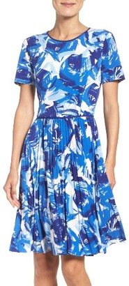 Women's Maggy London Pleated Fit & Flare Dress $128 thestylecure.com