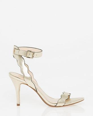 Le Château Metallic Foil Zigzag Strap Sandal