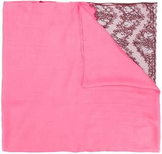 Valentino lace trim scarf