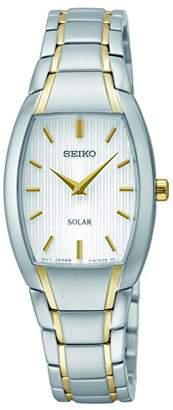 Seiko Women's SUP260 Analog Display Analog Quartz Two Tone Watch $93.49 thestylecure.com