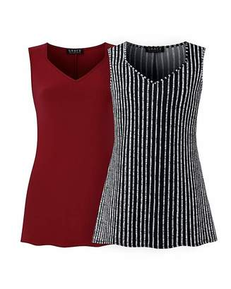 Grace 2 pack tunics in berry and stripe