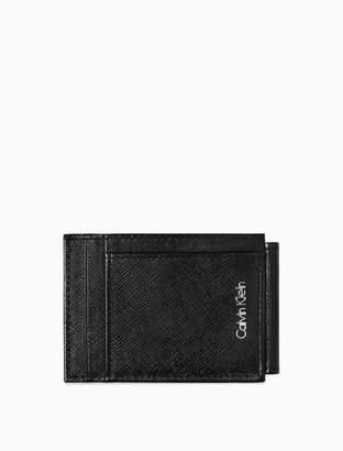 Calvin Klein saffiano leather magnetic card case
